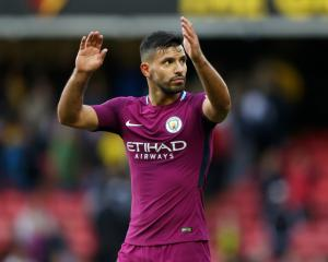 Manchester City getting ready to toast Sergio Aguero