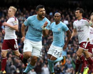 Sergio Aguero equals record as Man City beat Burnley