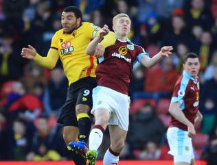 Watford hold off 10-man Burnley
