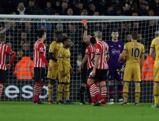 Claude Puel rues Nathan Redmond's red card as Tottenham make Southampton pay