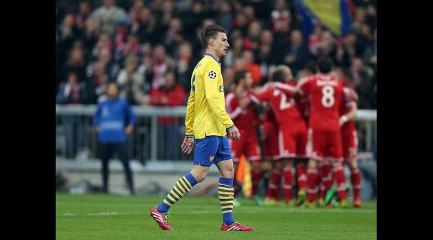 Gunners bow out at Bayerns hands