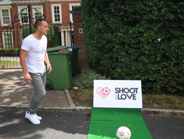 Chelseas John Terry tries his luck at the Shoot For Love football challenge - video