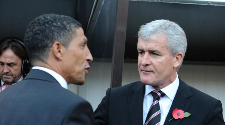 Mark Hughes talks up Chris Hughton ahead of Stoke trip to Brighton