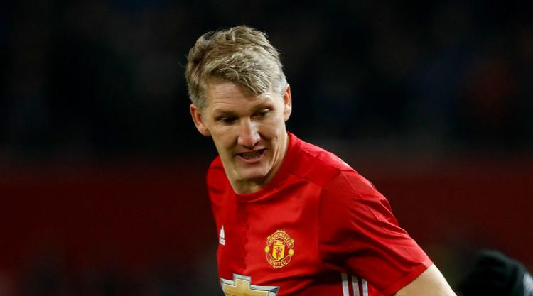 Bastian Schweinsteiger is the 'powerful one' as he plays for his United future