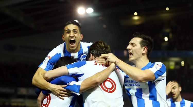 Brighton march on and draw level with Newcastle