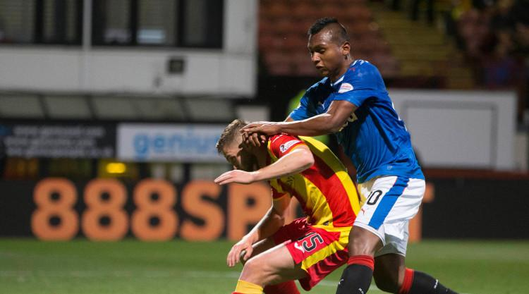 Rangers held by 10-man Partick Thistle
