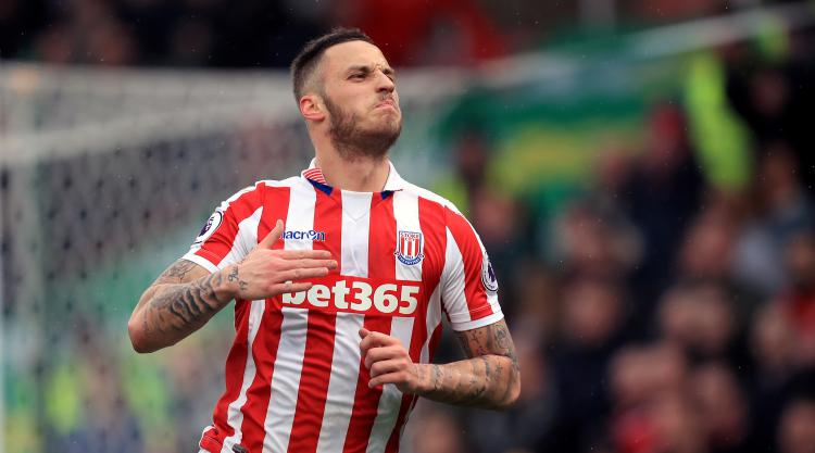 Marko Arnautovic at the double for Stoke as Middlesbrough fall into bottom three