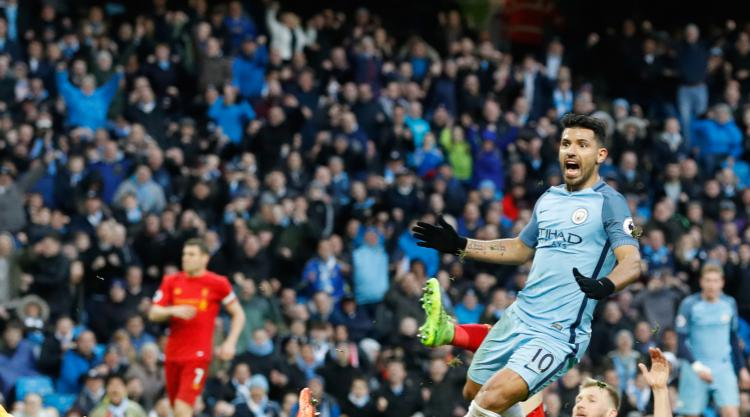 Sergio Aguero denies Liverpool victory in thrilling encounter at Manchester City
