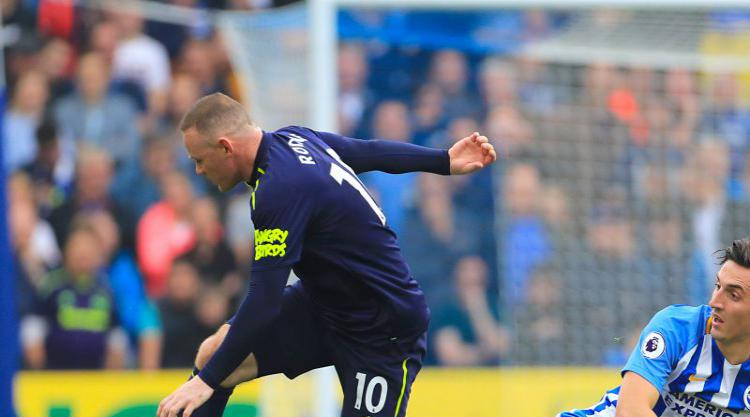 Wayne Rooney's late penalty sees Everton snatch a point at Brighton