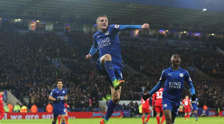 Vardy hits double as Leicester begin post-Ranieri era with win over Liverpool