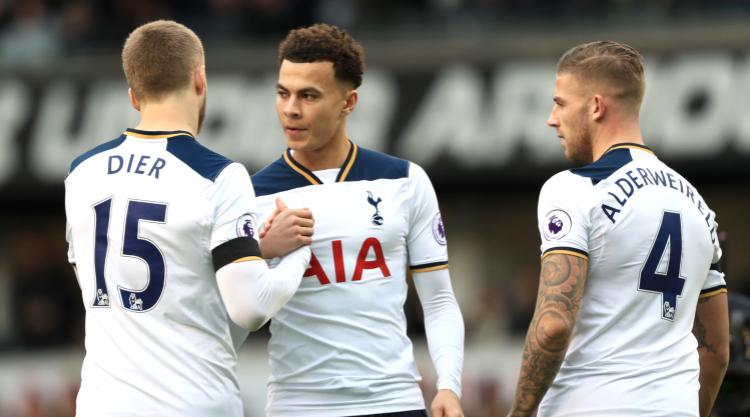Eric Dier stands up for Dele Alli after red card