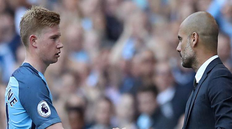 Pep Guardiola: De Bruyne must win trophies before reaching Messi's level