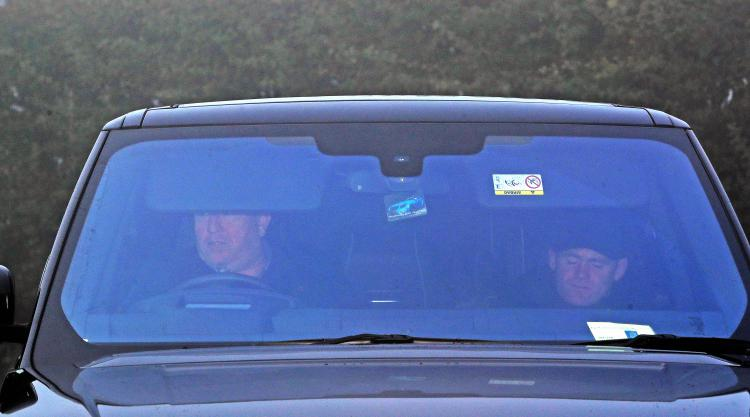 Wayne Rooney gets lift into training as driving ban commences