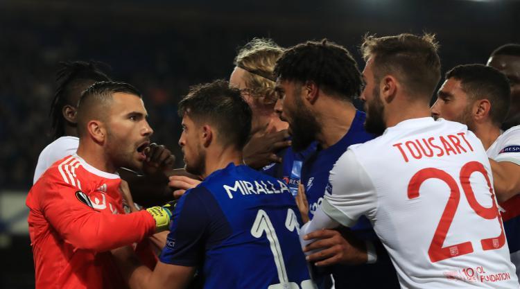 Everton could face UEFA sanction after melee during Lyon game