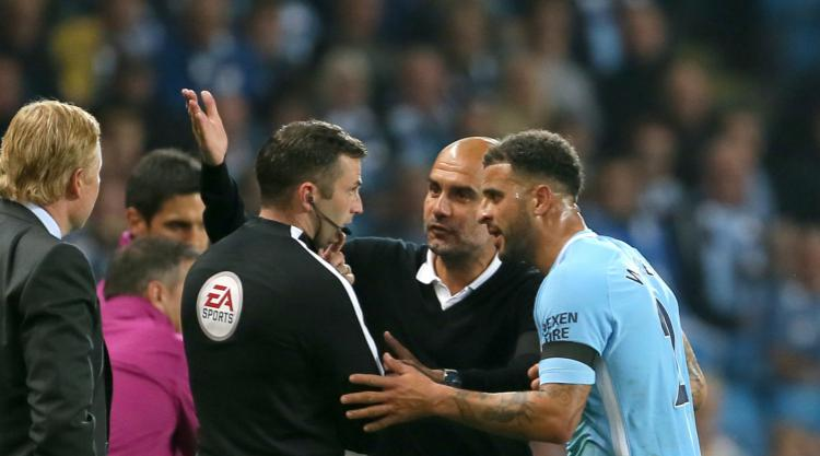 Kyle Walker apologises for receiving red card on Manchester City home debut